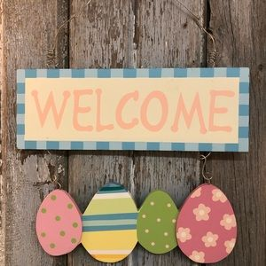 Easter egg Welcome sign